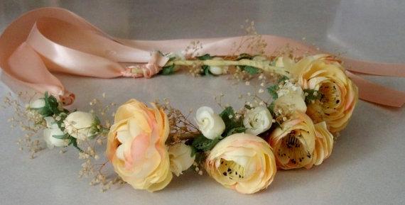 Как сделать веночек из искусственных цветов