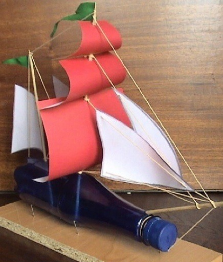 Как сделать кораблик внутри бутылки