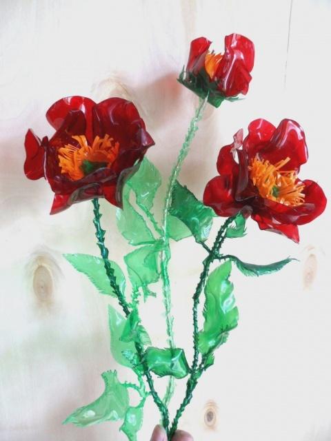 Как сделать из бутылки цветок видео фото 550