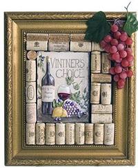 подарок своими руками из винных пробок на 8 марта своими руками картина