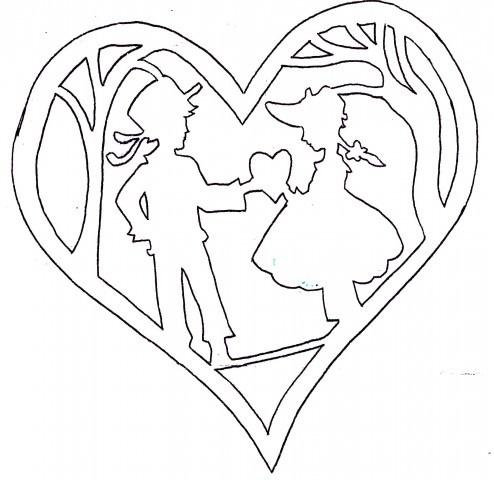 Картинки валентинки  из бумаги