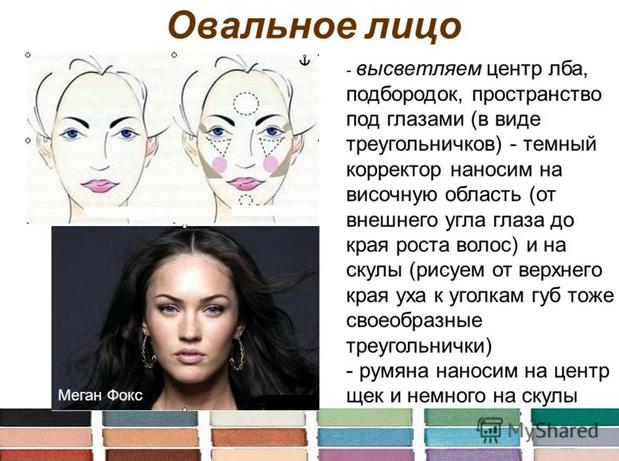 Какой макияж для овального лица