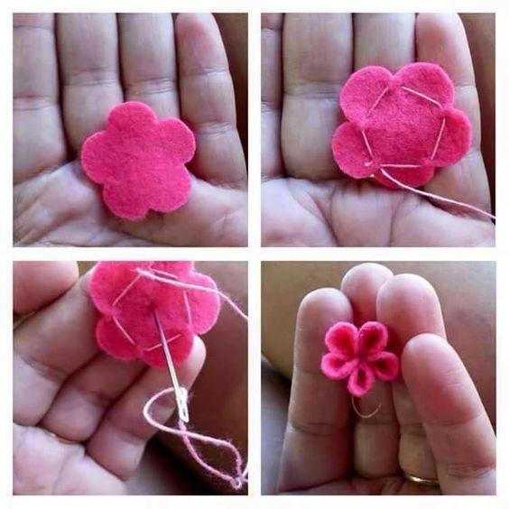 Как сделать из цветы из фетра своими руками 802