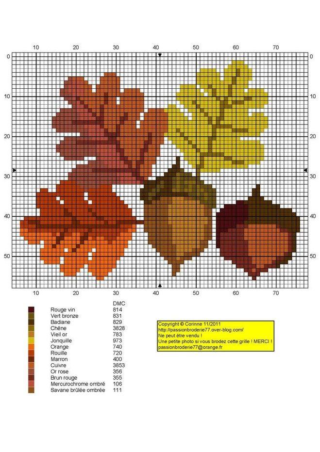 Схемы для вышивки осени