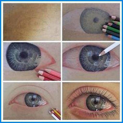 рисование глаз карандашом поэтапно
