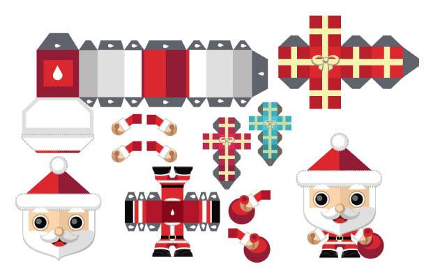 Дед Мороз на Новый год в технике паперкрафт своими руками