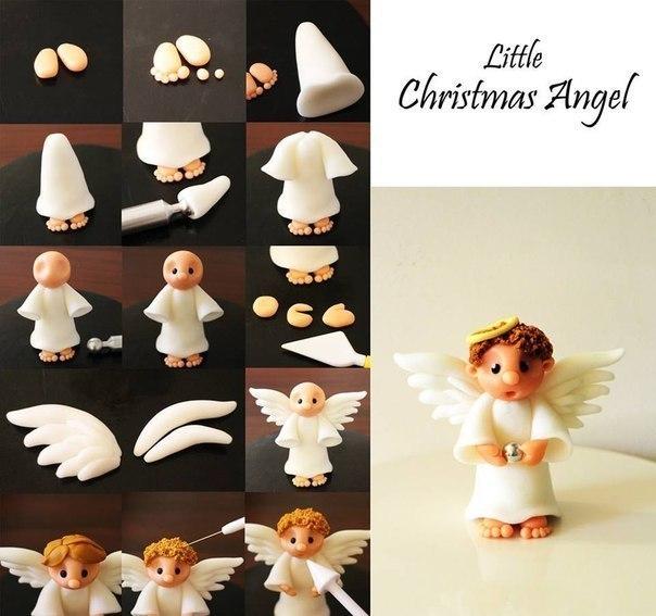 как приготовить ангела из мастики