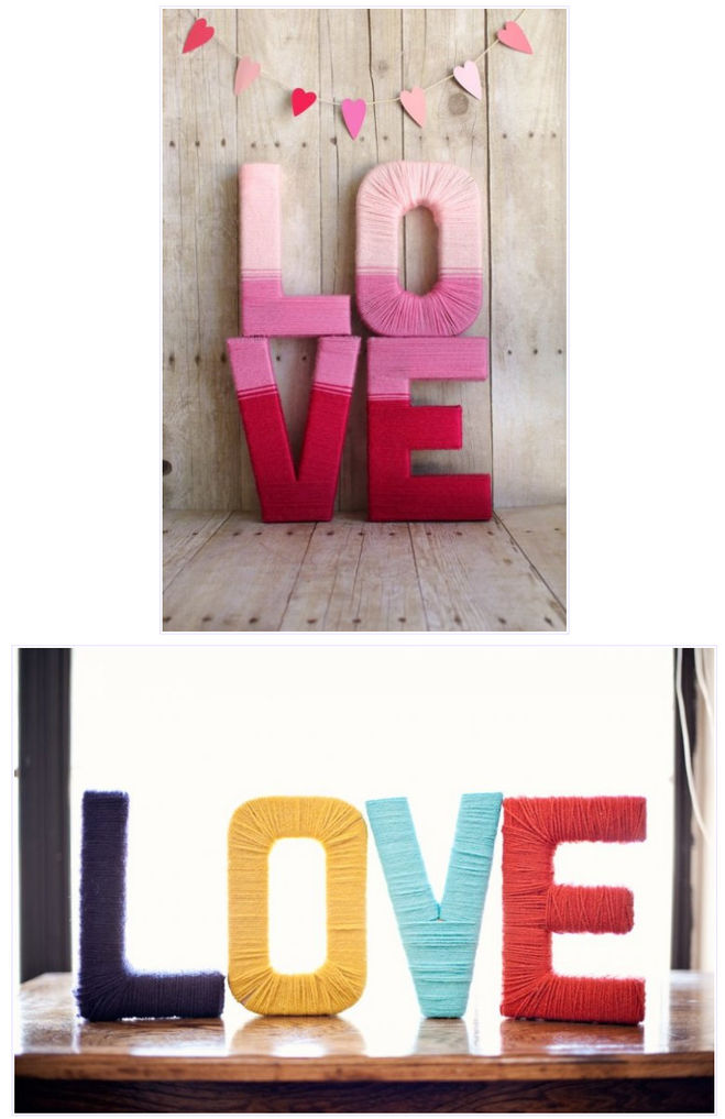 Слово love из пенопласта своими руками 50