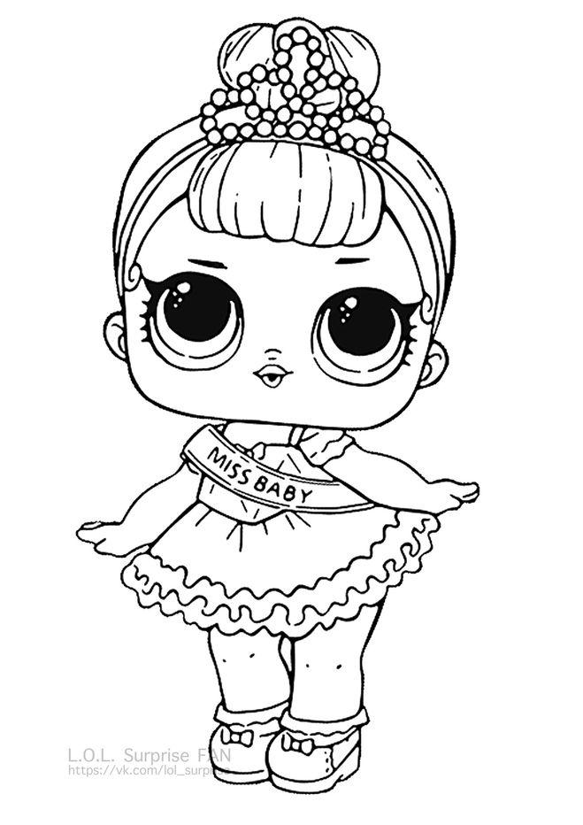 раскраска кукла лол распечатать