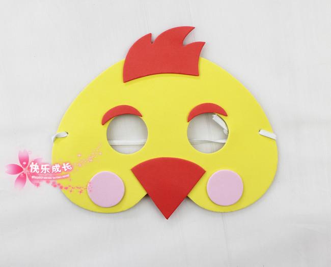Как из картона сделать маску петуха