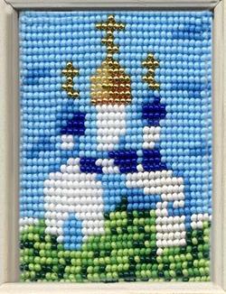 храм вышивка бисером