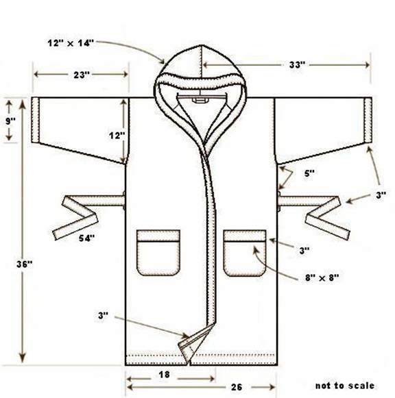 Банный халат своими руками выкройка