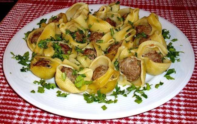 макароны начиненные фаршем рецепт с фото сковороде