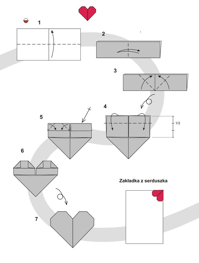 Как из бумаги сделать сердечко закладку