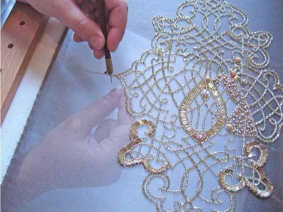 Тамбурная вышивка люневильским крючком мастер класс