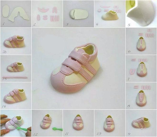 Как сделать кроссовки для мастика 24
