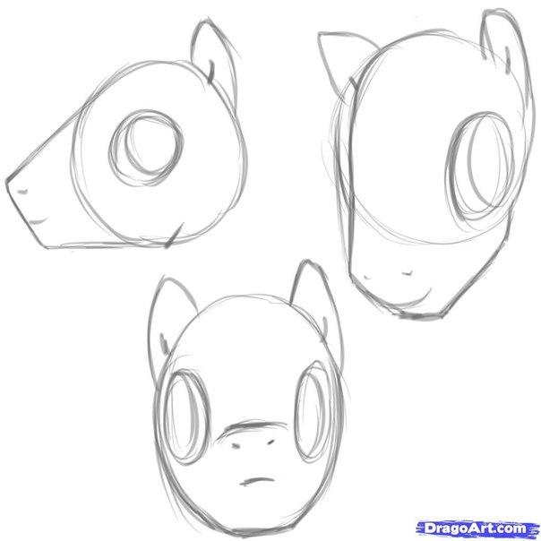 голова пони туториал
