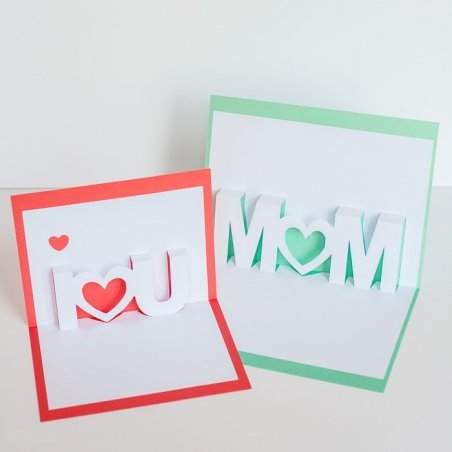 Как сделать объёмную открытку маме на день рождения .