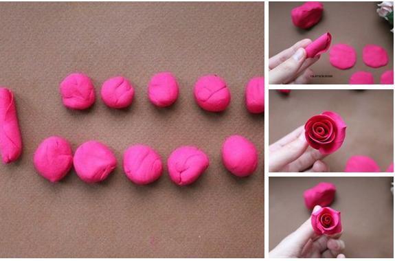 Розы из пластилина своими руками мастер класс