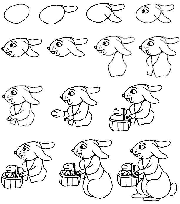 нарисовать зайца.