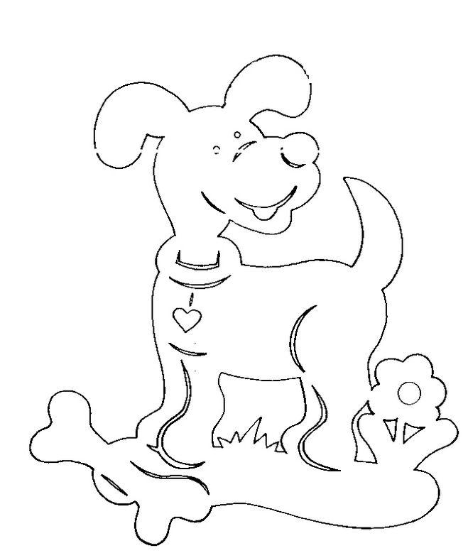 Вытынанка символ года собака