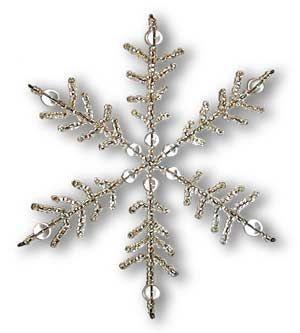 снежинка из проволоки и бисера/бусин своими руками