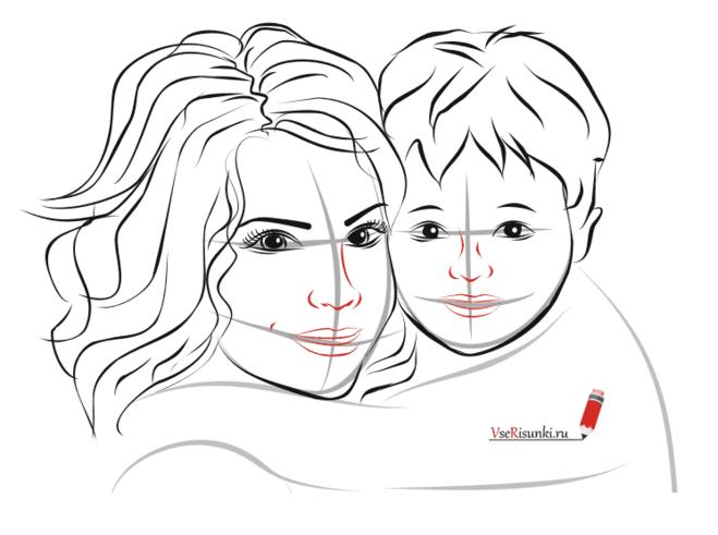 Маме своими руками рисунок карандашом
