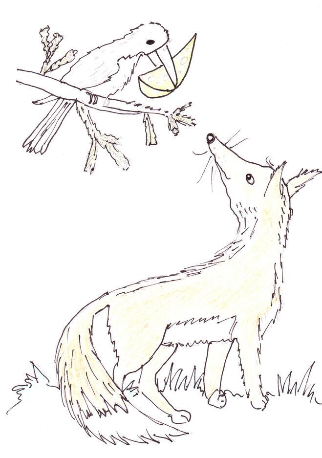 Иллюстрации к басням крылова поэтапно