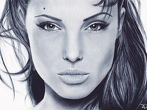 как нарисовать Анджелину Джоли5