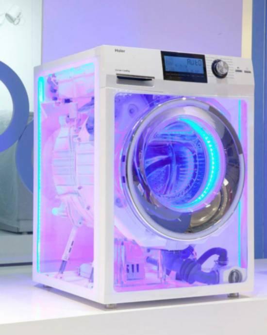 Красивая стиральная машина с подсветкой