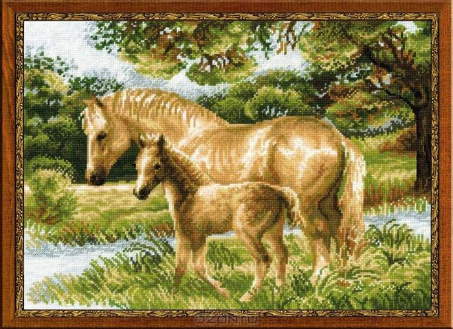 Вышивка красивая лошадь