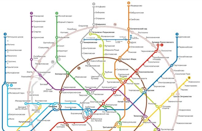 Схема метро брестская