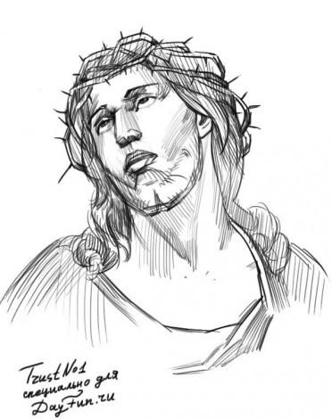 как рисовать Иисуса Христа