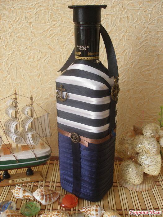 Мастер класс бутылка для военного 190
