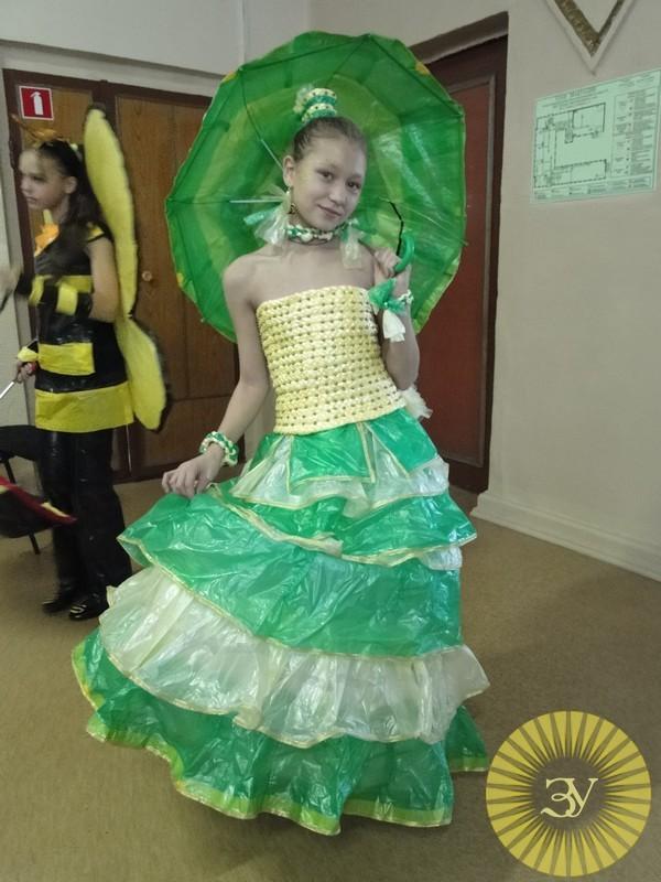 Платье из подручного материала: мастер класс своими руками 199