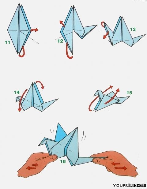 Как сделать оригами журавль из бумаги своими руками - Шкаф и точка