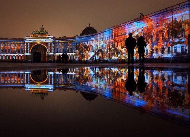 Фестиваль света 4 5 ноября Санкт-Петербург Дворцовая площадь