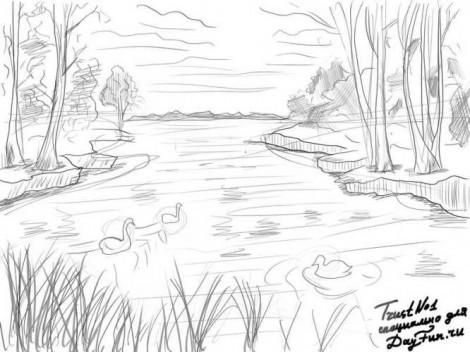 Нарисовать на задний фон природы