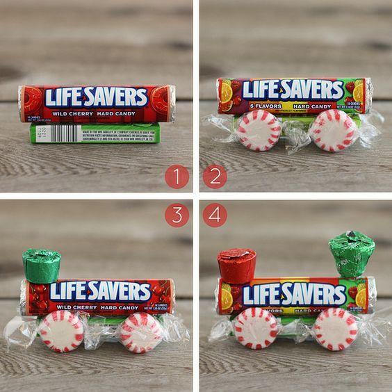 паровоз из конфет своими руками