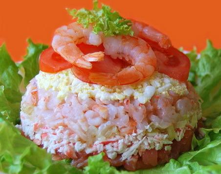 Салат морской рай рецепт