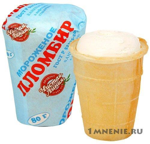 Мороженое пломбир калорийность на 100 грамм