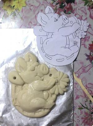 свинья из соленого теста мастер-класс