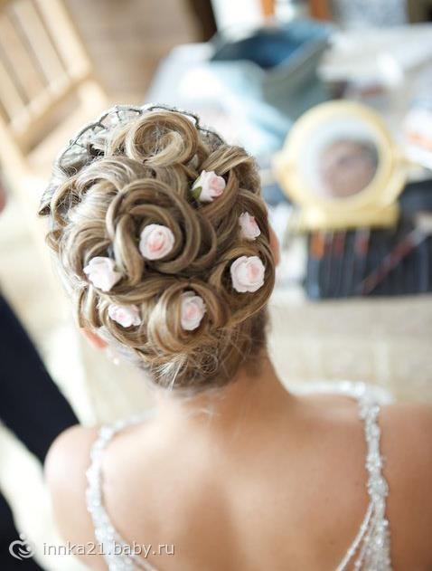 Причёски на свадьбу без фаты