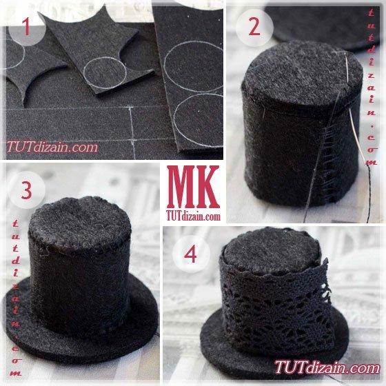Видео как сделать шляпку