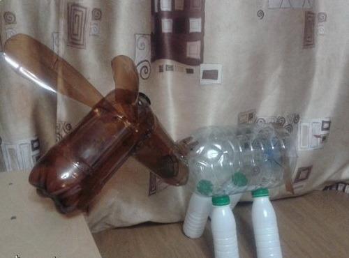 Ослик из пластиковых бутылок пошагово для начинающих