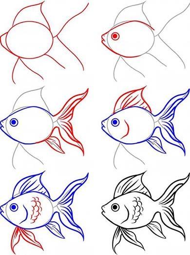 Золотая рыбка к сказке из стихотворения Бальмонта мастер-класс