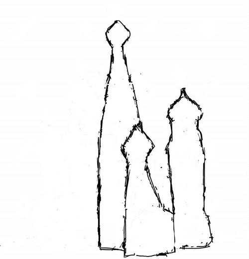 нарисовать Кремль карандашом поэтапно