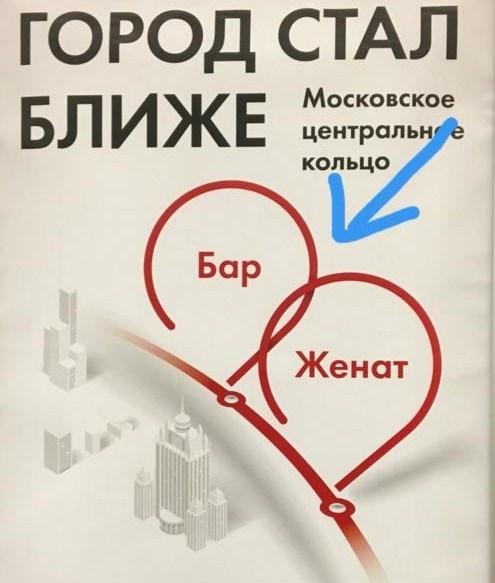 плакат бар-женат в московском метро