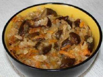 Салат из белокочанной капусты с грибами на зиму