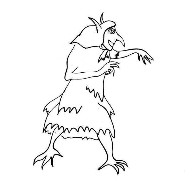 рисунок кикимора